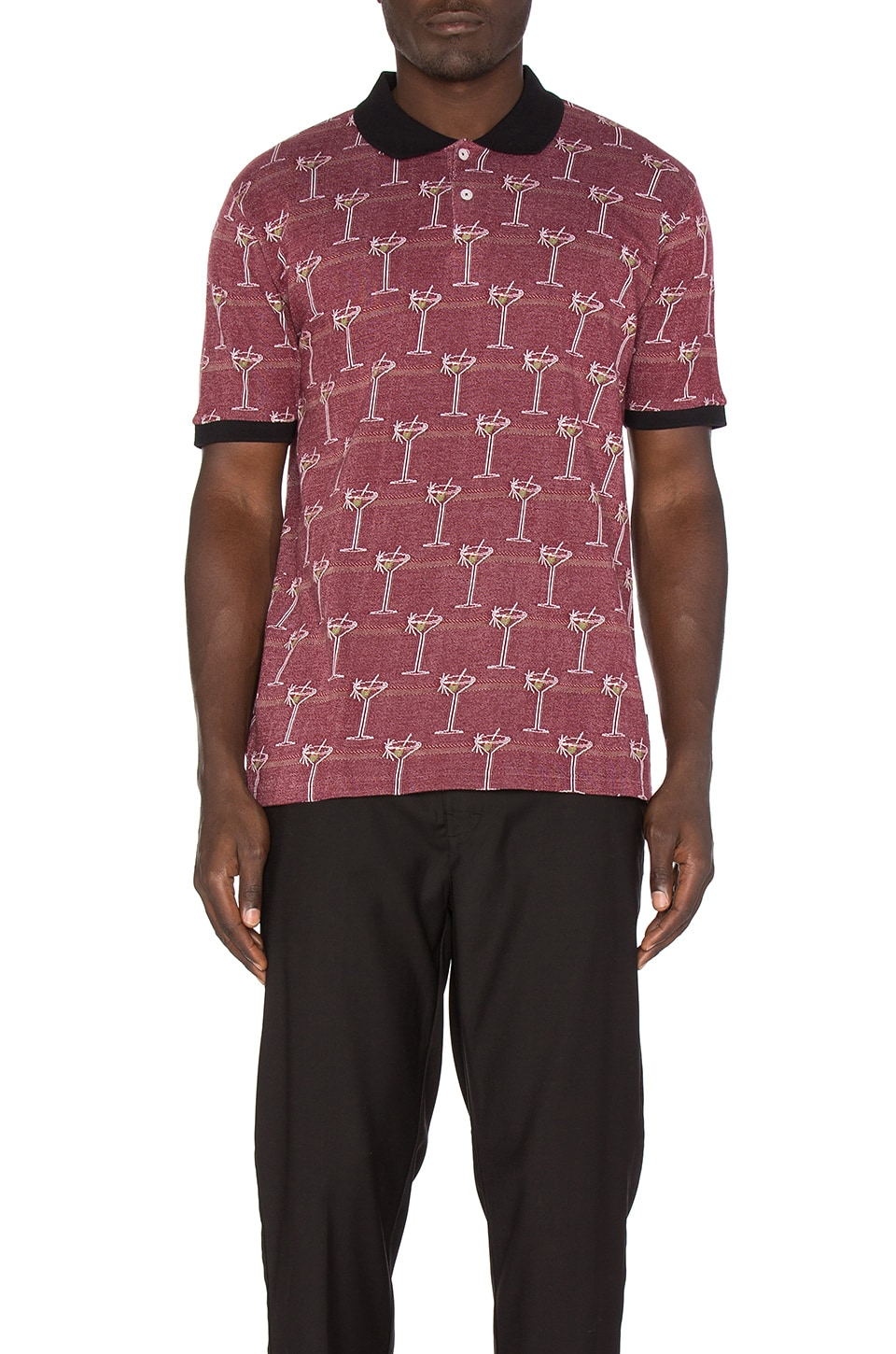 Martini Jacquard Polo by Stussy