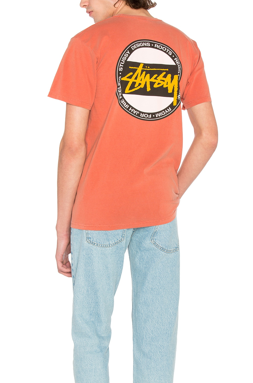 Stussy Surf Dot Tee in Burnt Orange