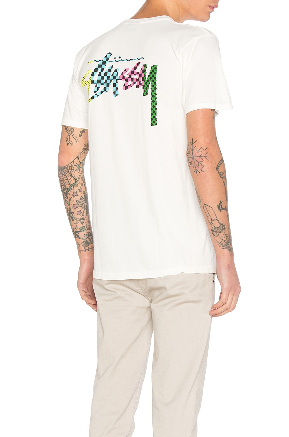 Checker Stock Tee by Stussy