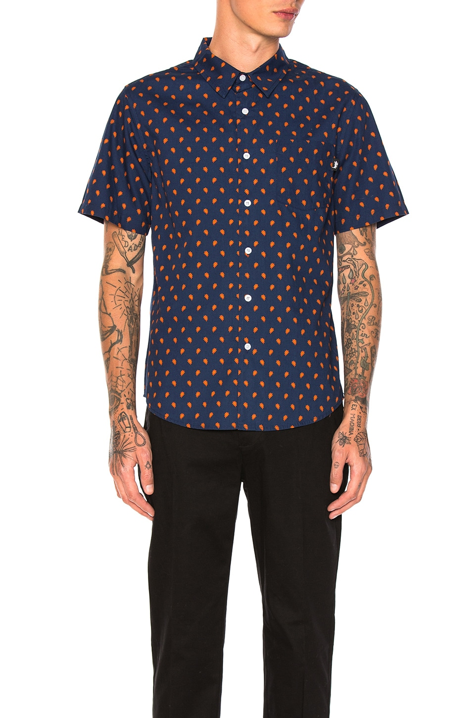 Mini Paisley Button Down by Stussy