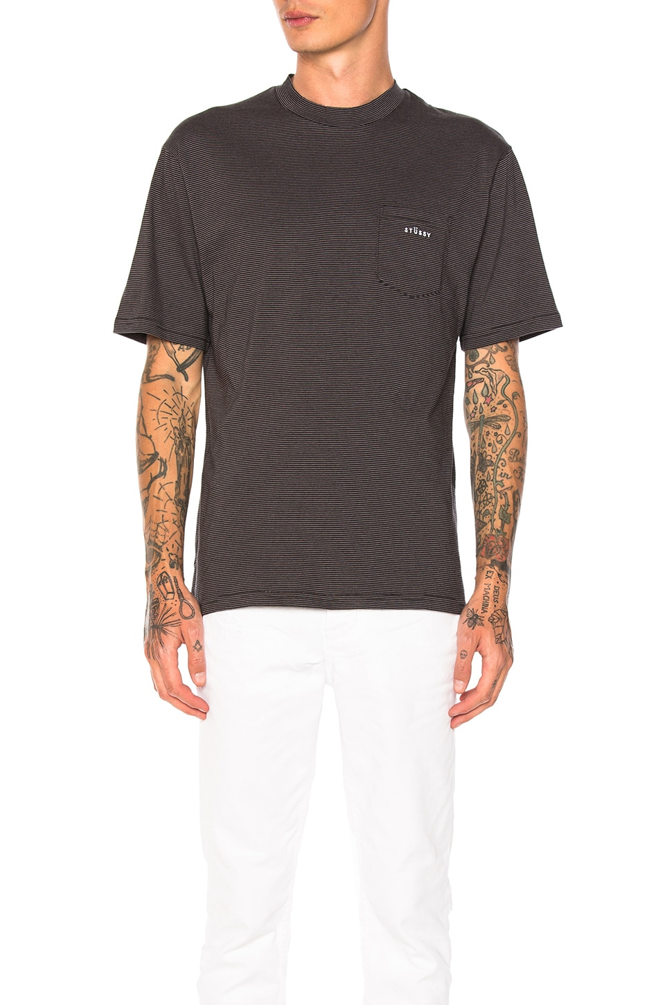 Mini Stripe Crew Tee by Stussy