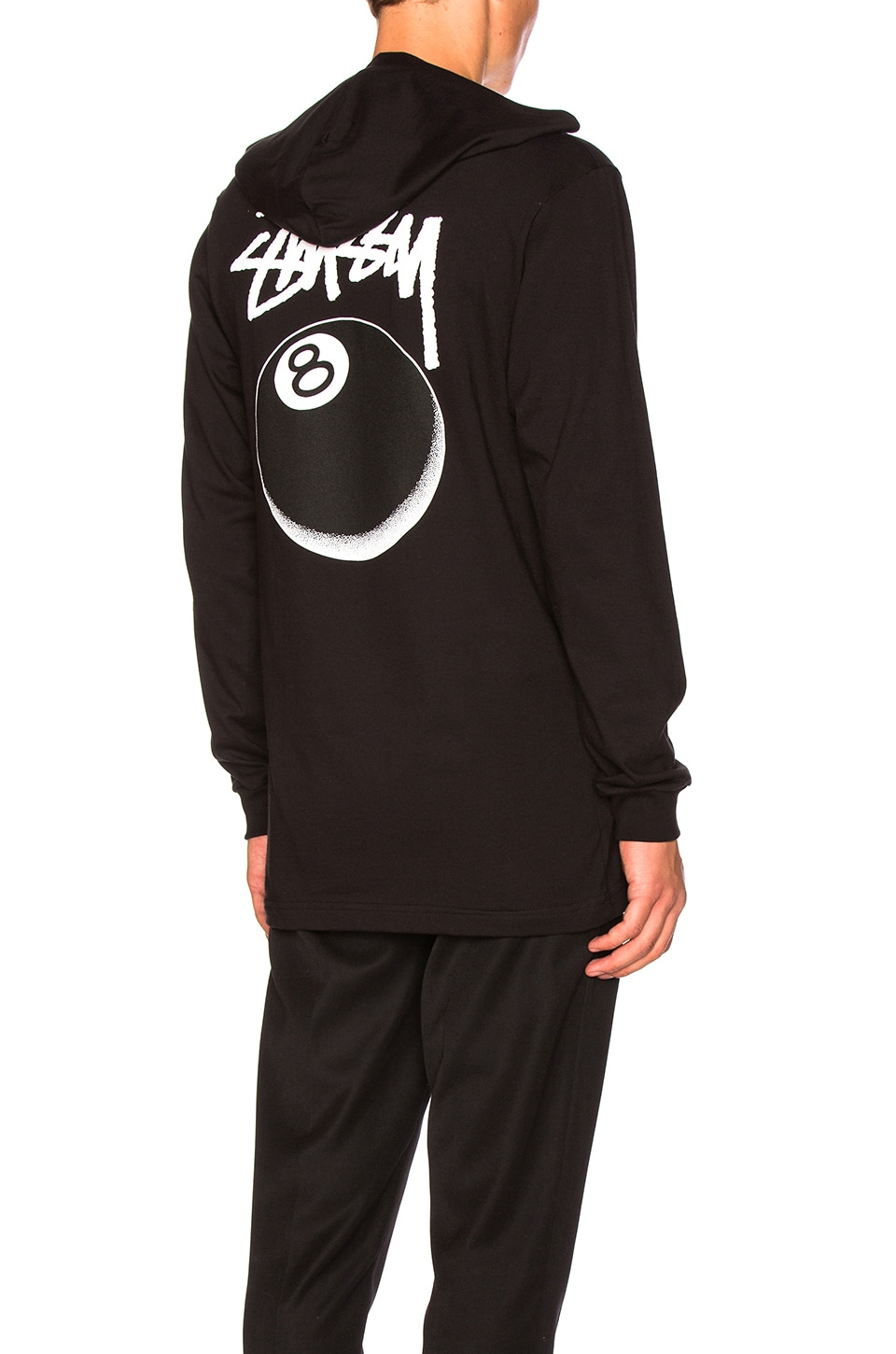 8 Ball Stipple Hooded Tee by Stussy