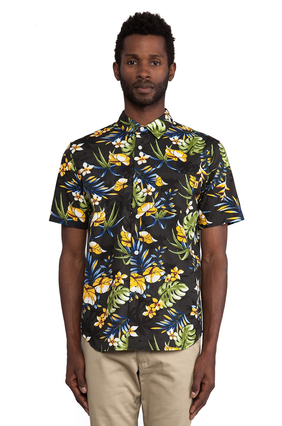 Stussy Paradise Button Down in Black
