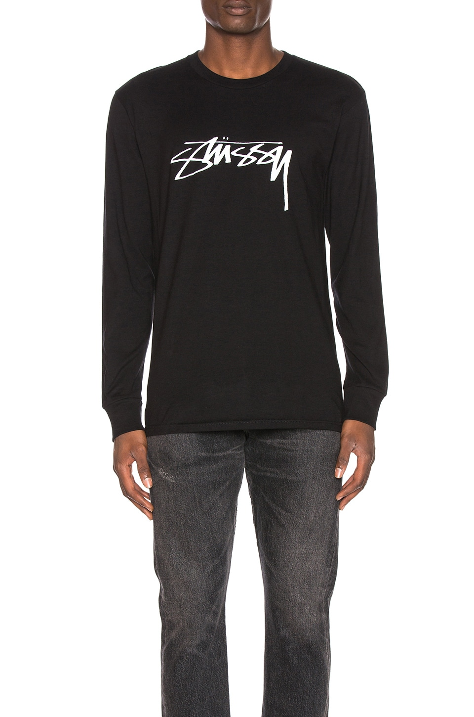 Stussy Smooth Stock L/S Tee en Black