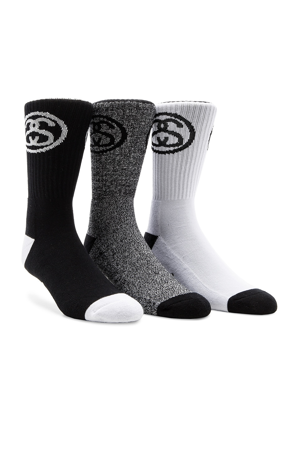 3-Pack SS Link Premium Socks by Stussy