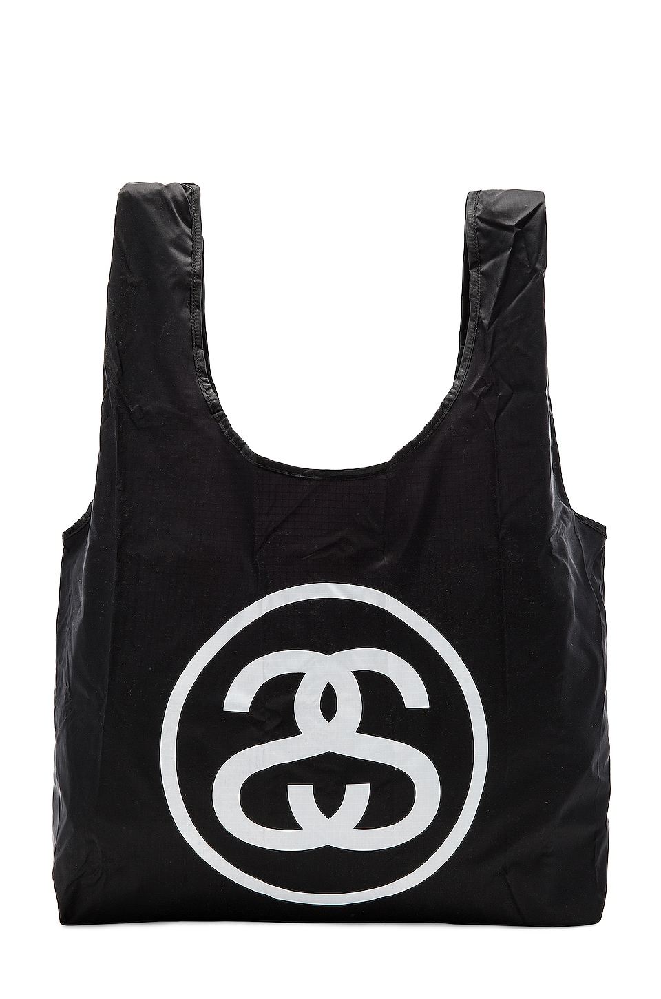 Stussy SS Link Fold Up Bag in Black