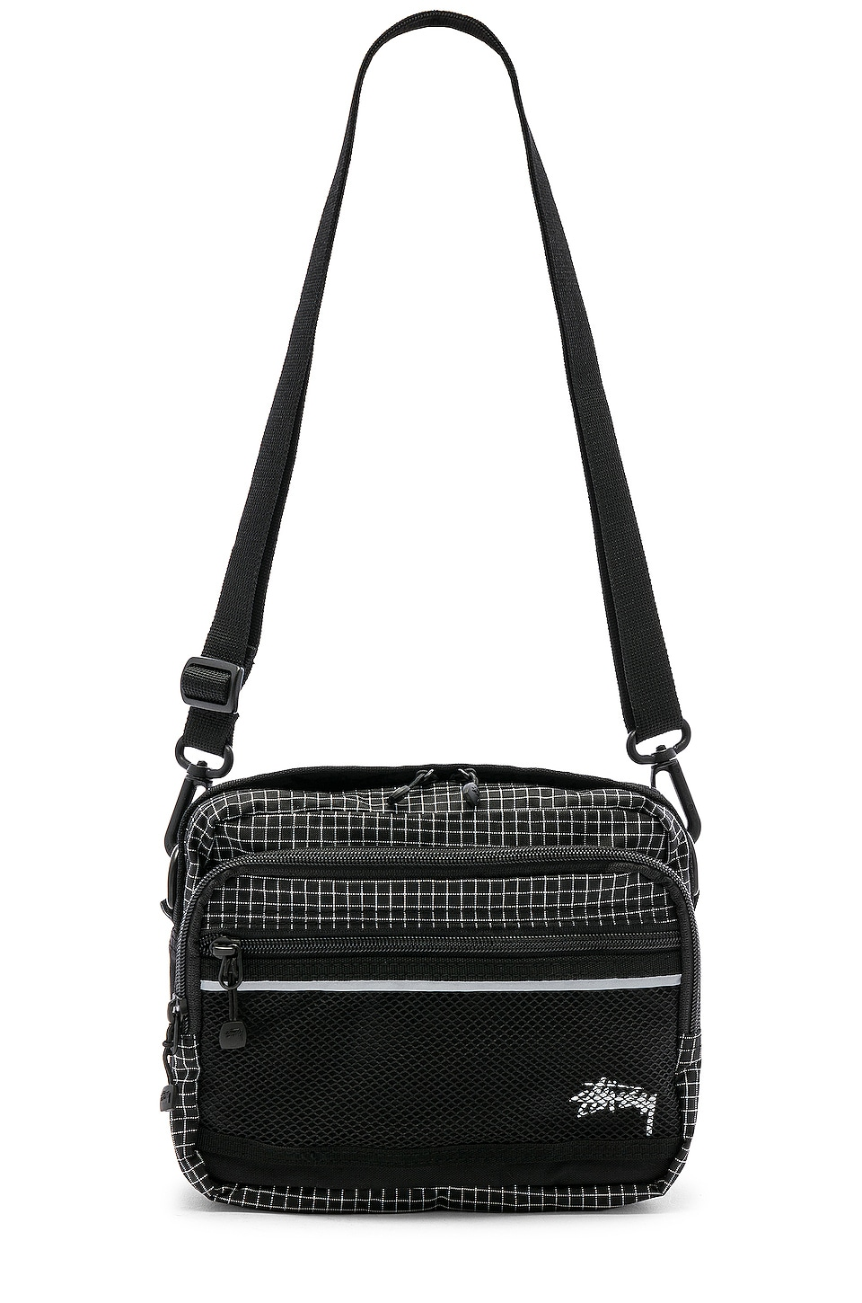 Stussy Ripstop Nylon Shoulder Bag in Black