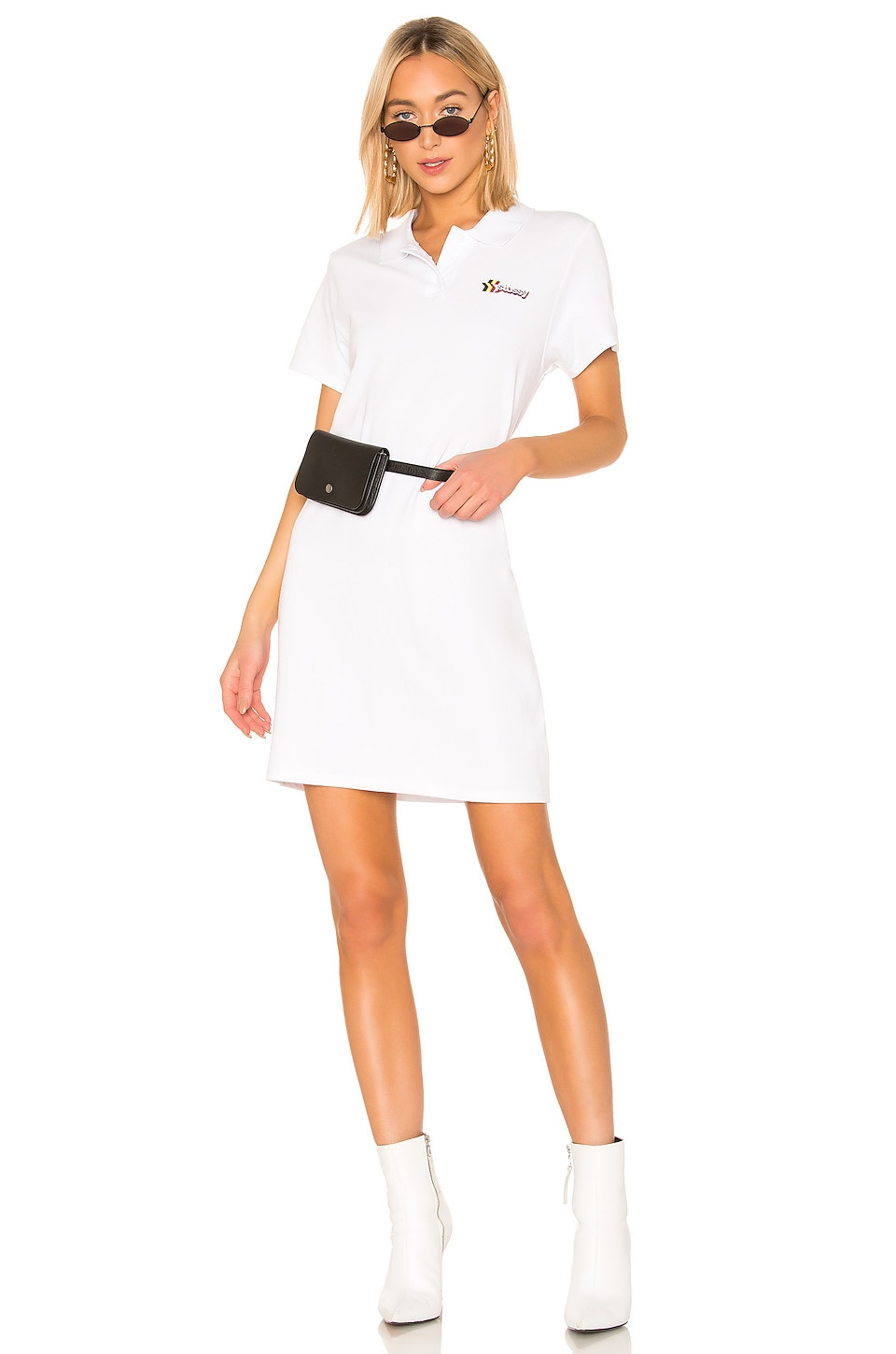Stussy Muriel Polo Mini Dress in White