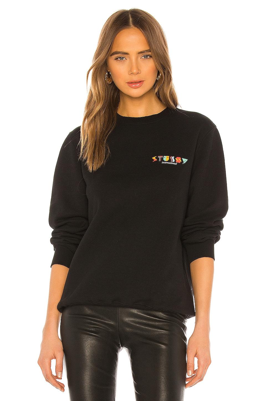 Stussy Deco Sweatshirt in Black
