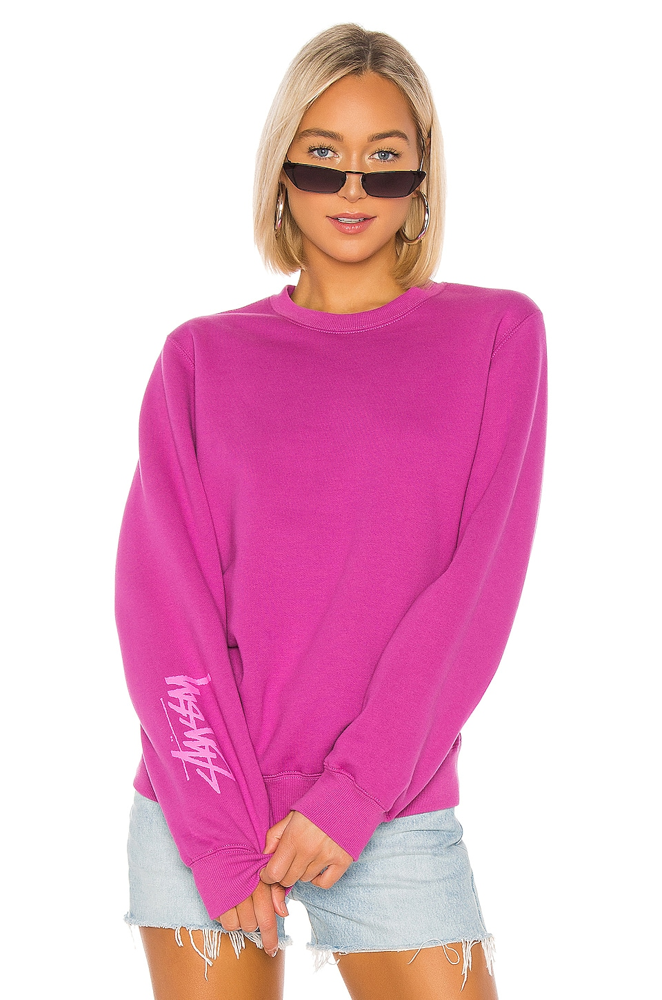 Stussy Stock Pullover in Berry