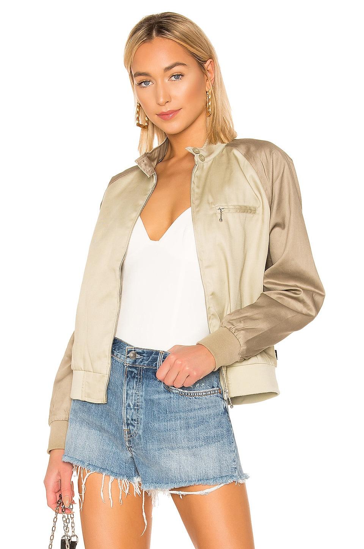 Stussy Louise Tow Tone Harrington Jacket in Khaki