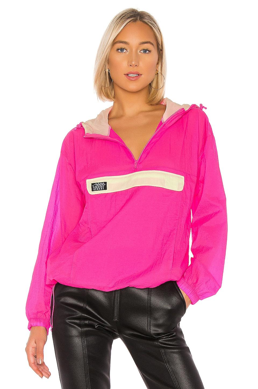 Stussy Aydin Nylon Crinkle Anorak Jacket in Pink