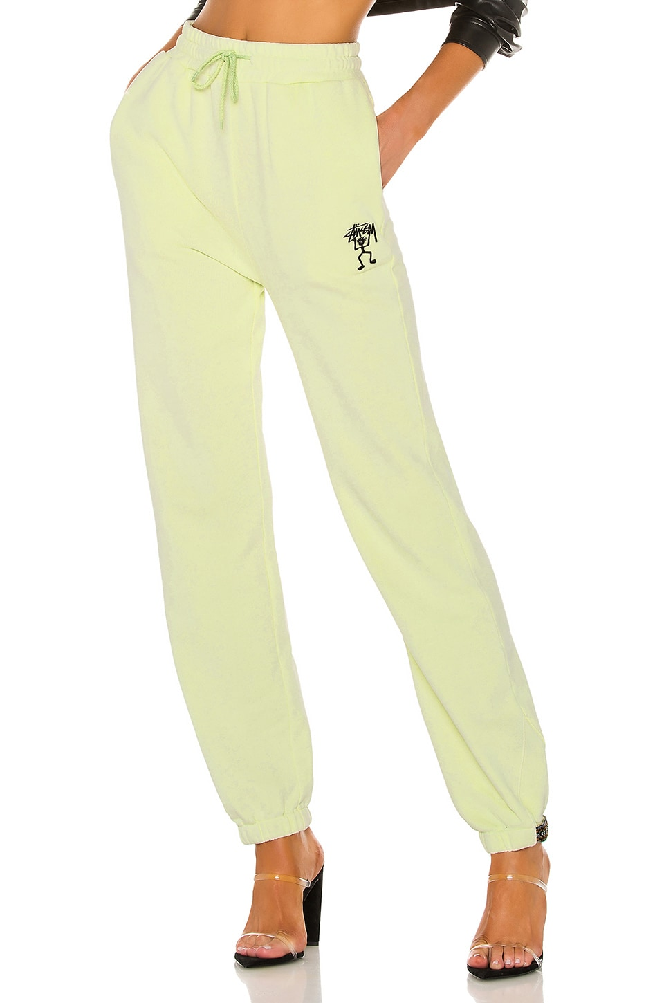 Stussy Pacific Webbing Terry Pant in Lime