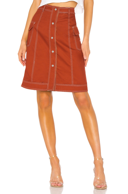 Stussy Clyde Reversible Skirt in Brick