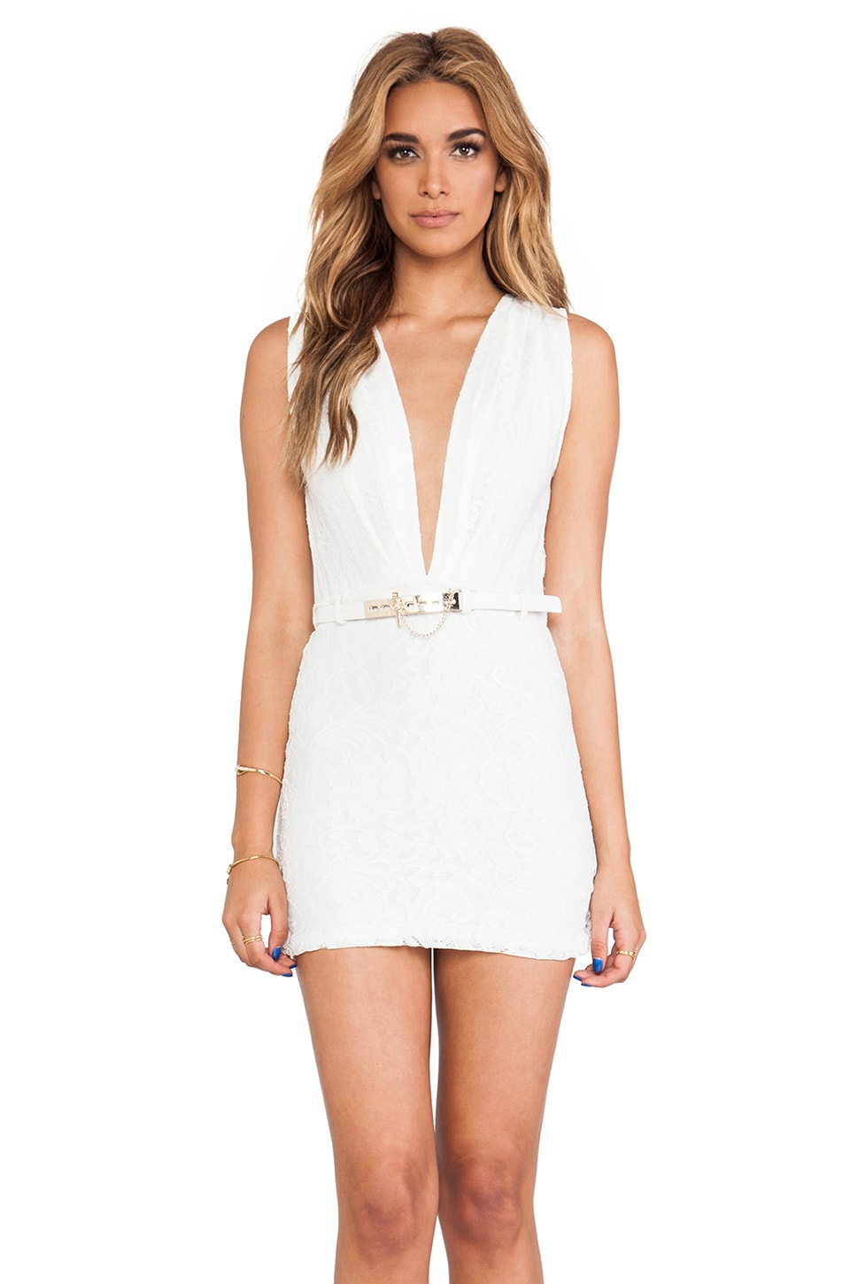 STYLESTALKER Mustang Dress in White