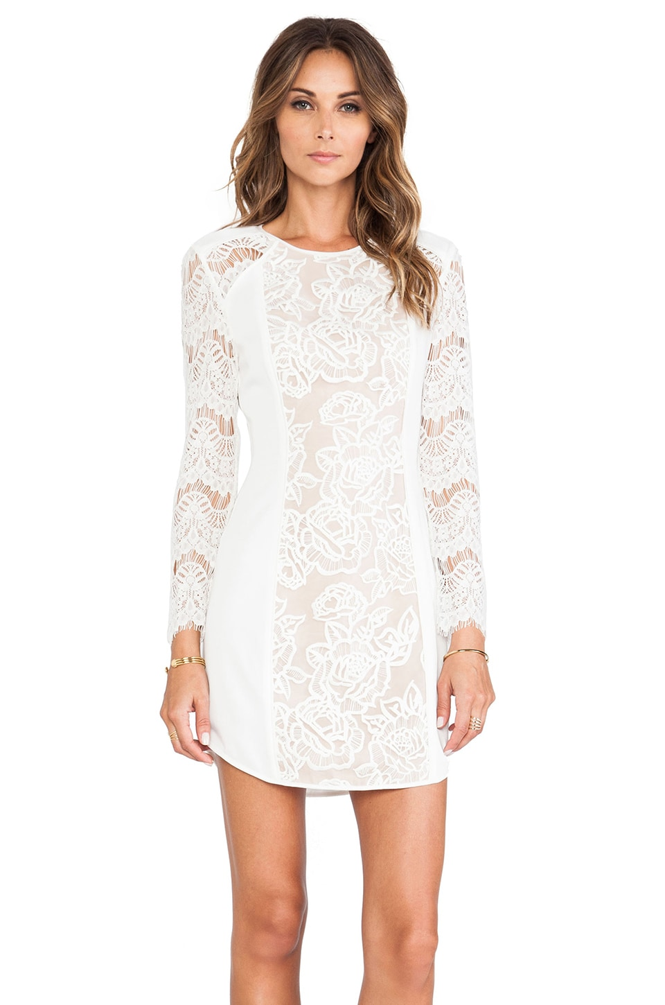 STYLESTALKER Lana Dress in White