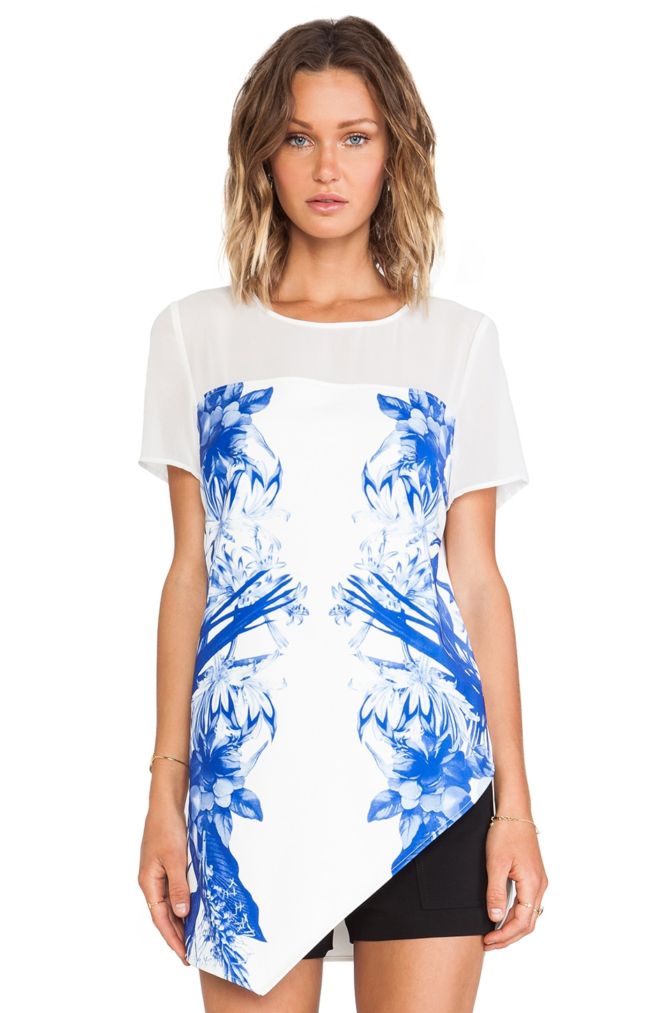 STYLESTALKER Run Away With Me Top in Blue Floral