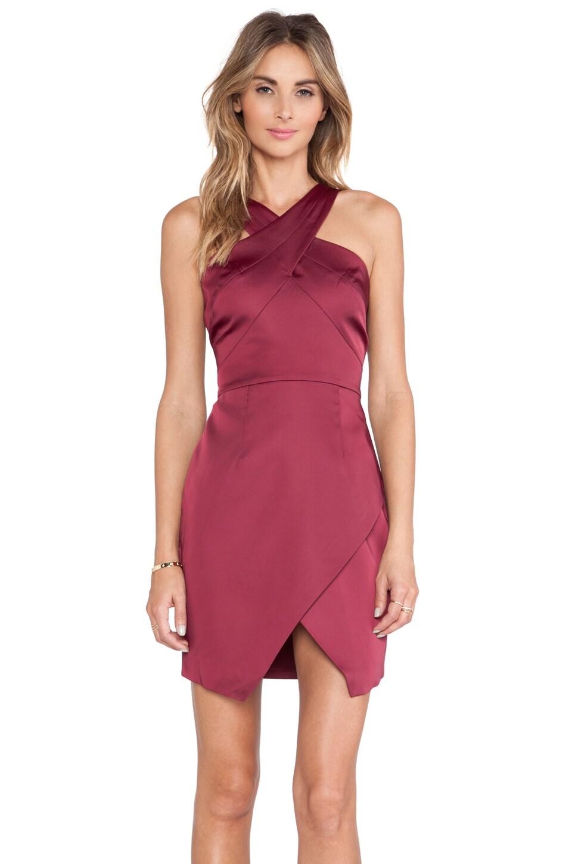 STYLESTALKER Lean on Me Dress in Pomegranate