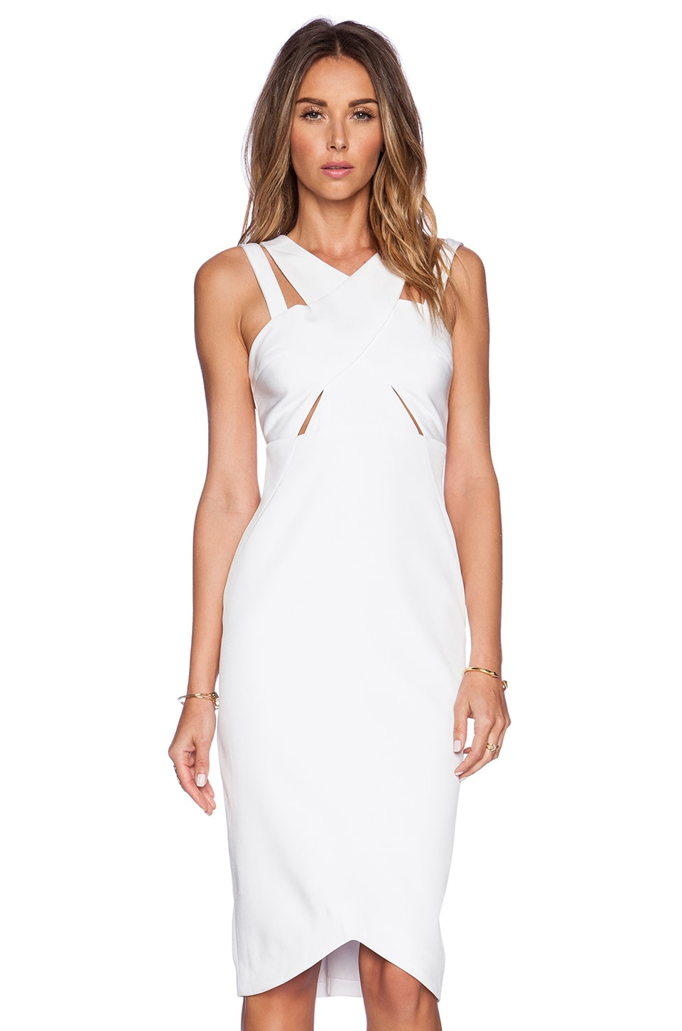 STYLESTALKER Parallel Dress in White