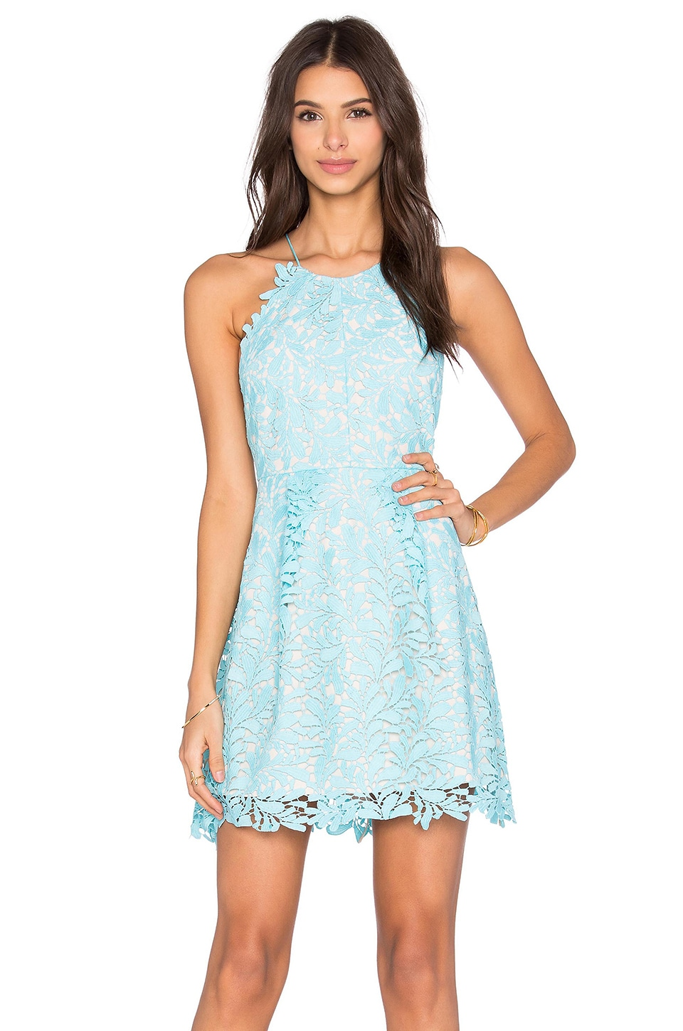 STYLESTALKER Viper Circle Dress in Cyan