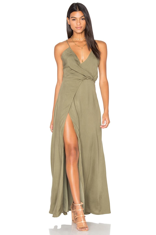 STYLESTALKER Marna Maxi Dress in Khaki  REVOLVE