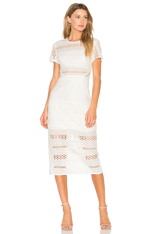 STYLESTALKER Venice Midi Dress in Blanc