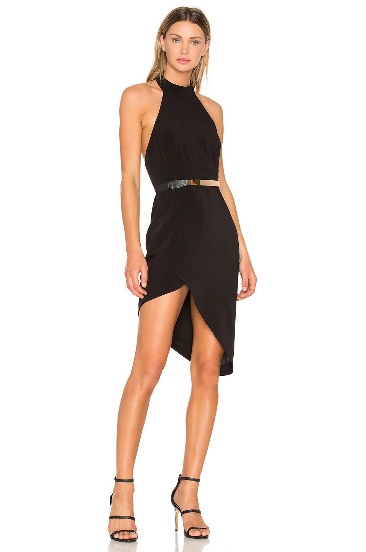 STYLESTALKER Celia Midi Dress in Noir