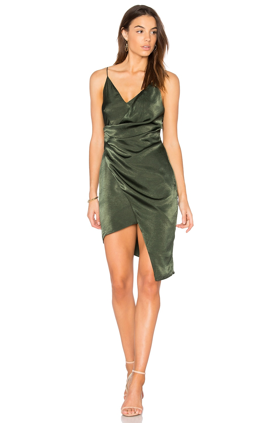 STYLESTALKER Trinity Dress in Forest Green