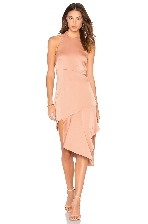 STYLESTALKER Rhea Midi Dress in Nude