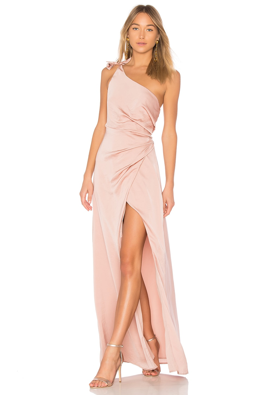 STYLESTALKER Jordana Maxi Dress in Rose Gold