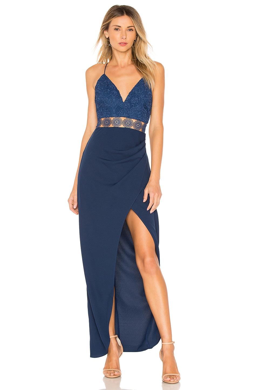 Alexa Maxi Dress in Blue. - size 2/XS (also in 4/S,6/M,8/L) Stylestalker