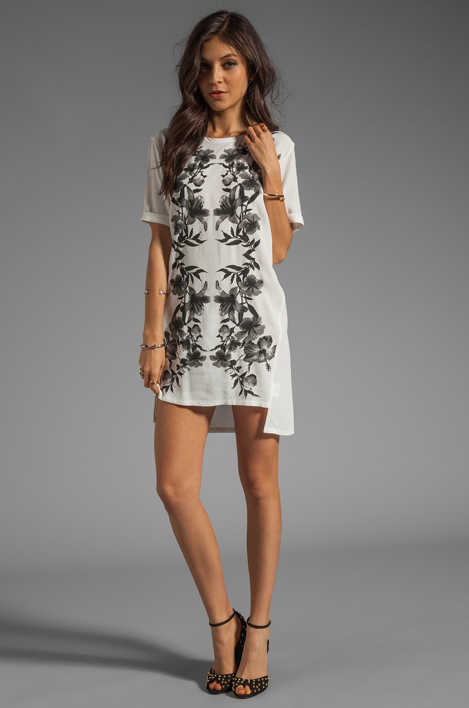 Style Stalker Parallel Universe Dress in Black/White Floral