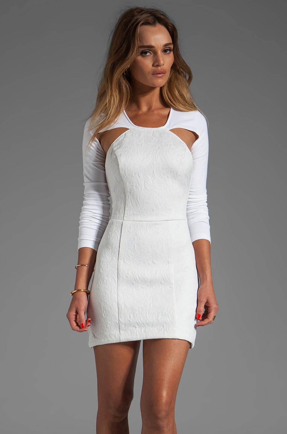 STYLESTALKER Time Travel Dress in Milk