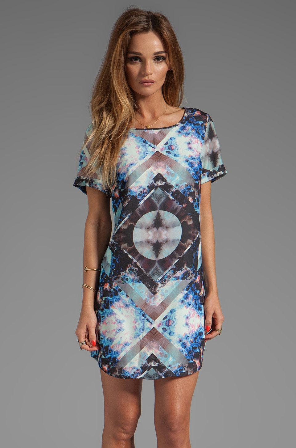 STYLESTALKER Space Jam Dress in Galaxy Print