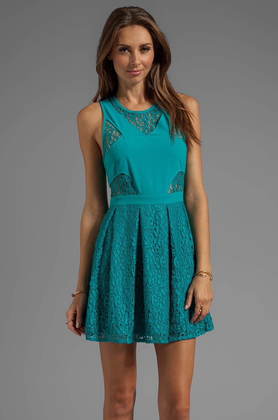 STYLESTALKER B-Ball Lace Dress in Teal