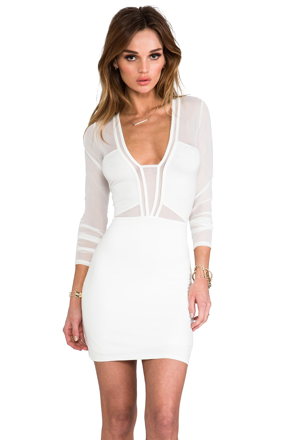 STYLESTALKER x REVOLVE Seductive Dress in Ivory