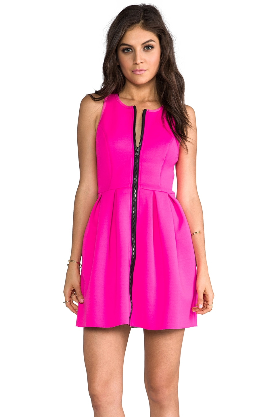 STYLESTALKER Word Dress in Hot Pink