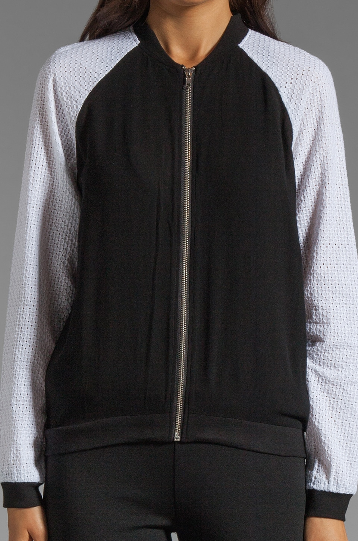 Style Stalker Parallel Universe Bomber Jacket in Black/White Floral