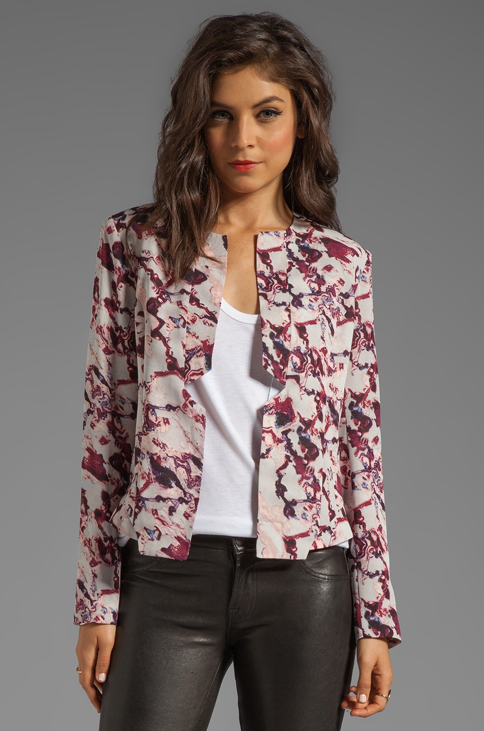STYLESTALKER Dream Team Jacket in Sliced Crystal Print
