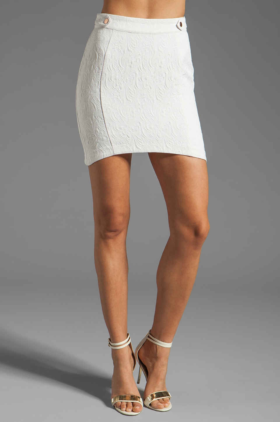 STYLESTALKER Time Travel Skirt in Milk