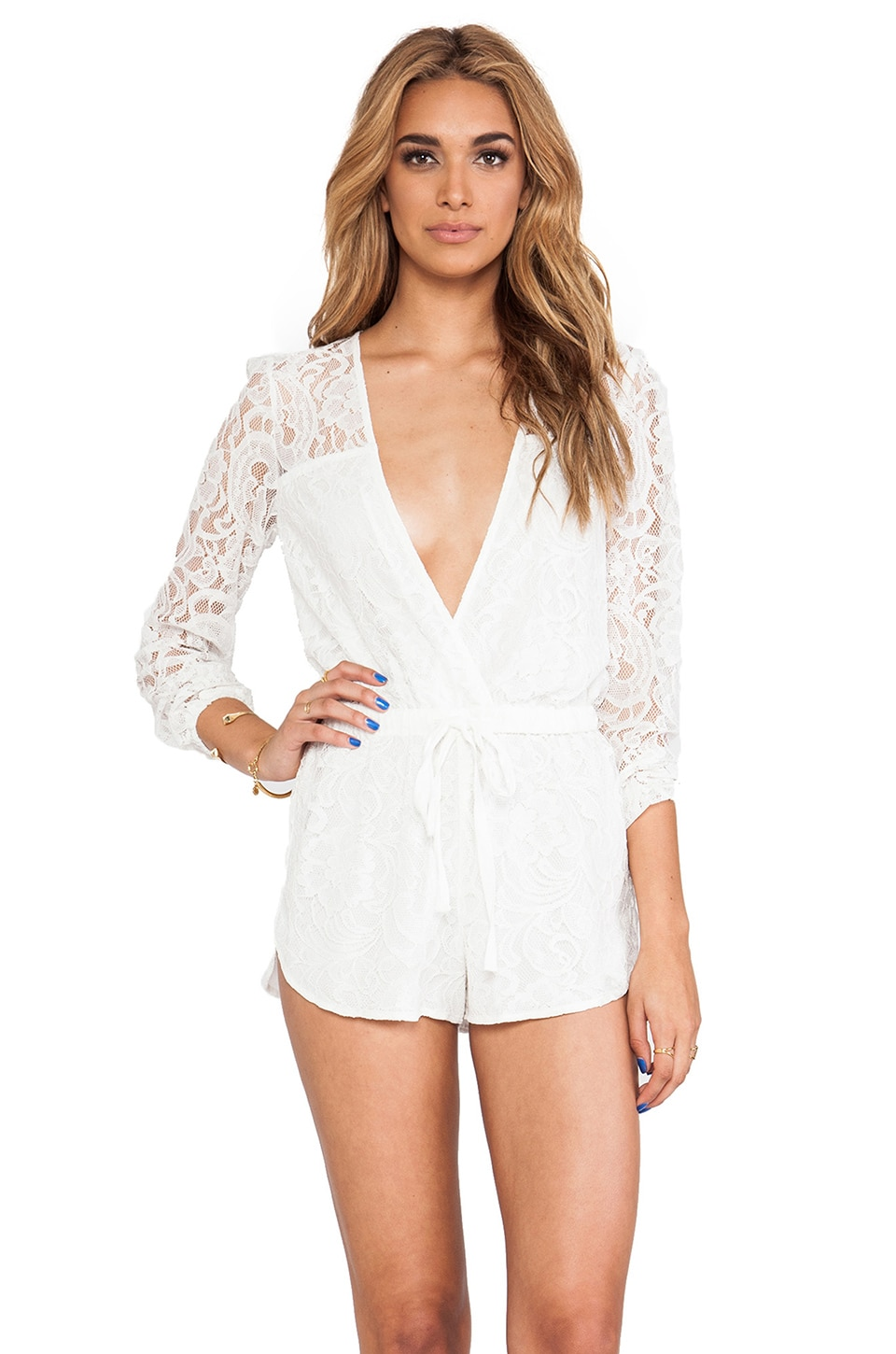 STYLESTALKER On The Road Romper in White
