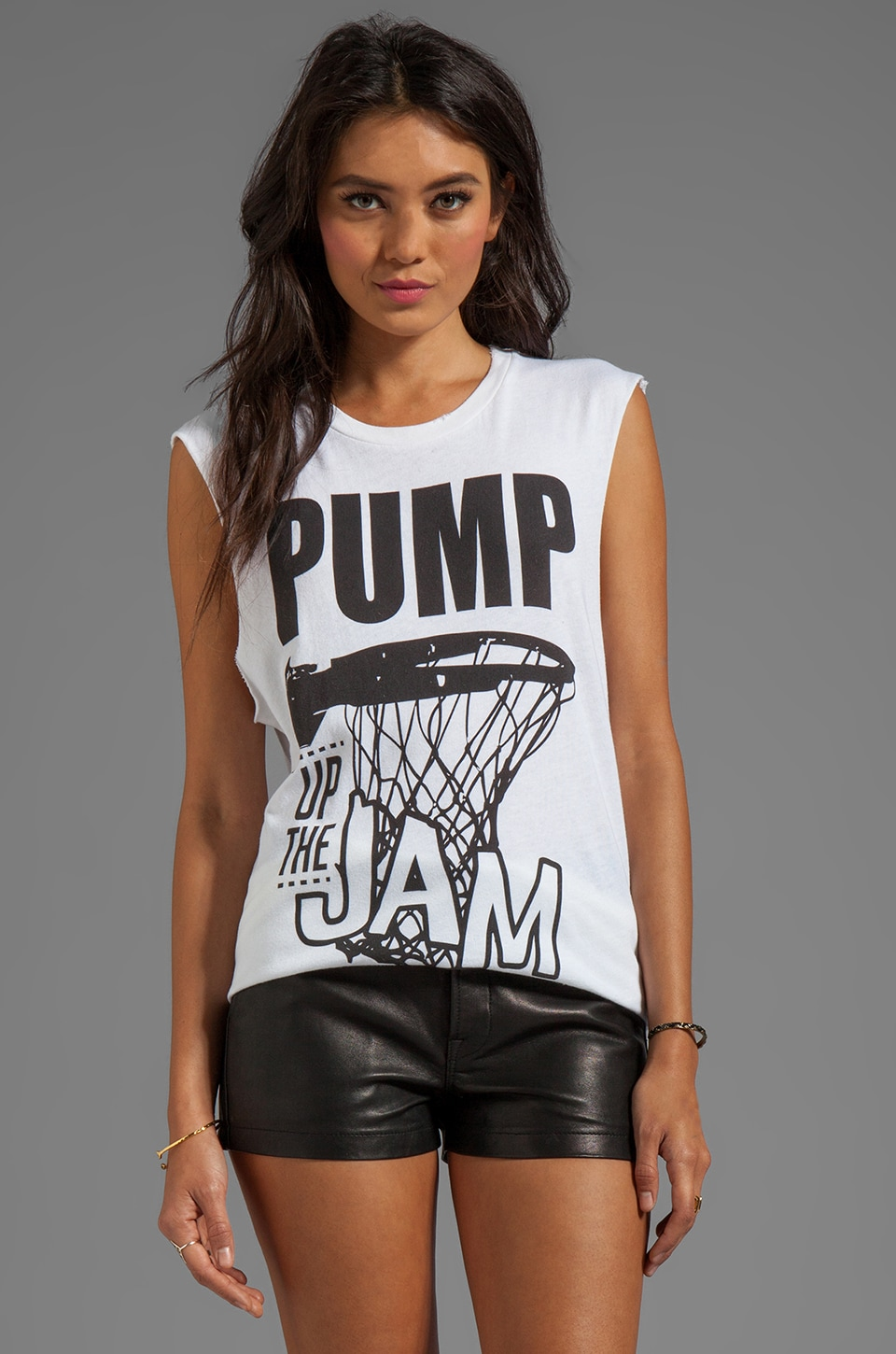 STYLESTALKER Pump Up Jam Tee in Off White