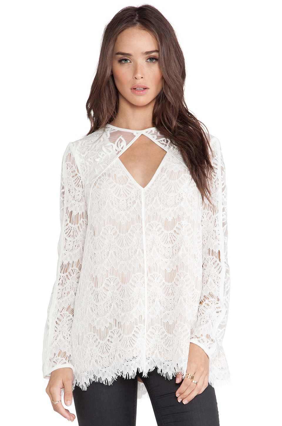 STYLESTALKER Devoted To You Blouse in White
