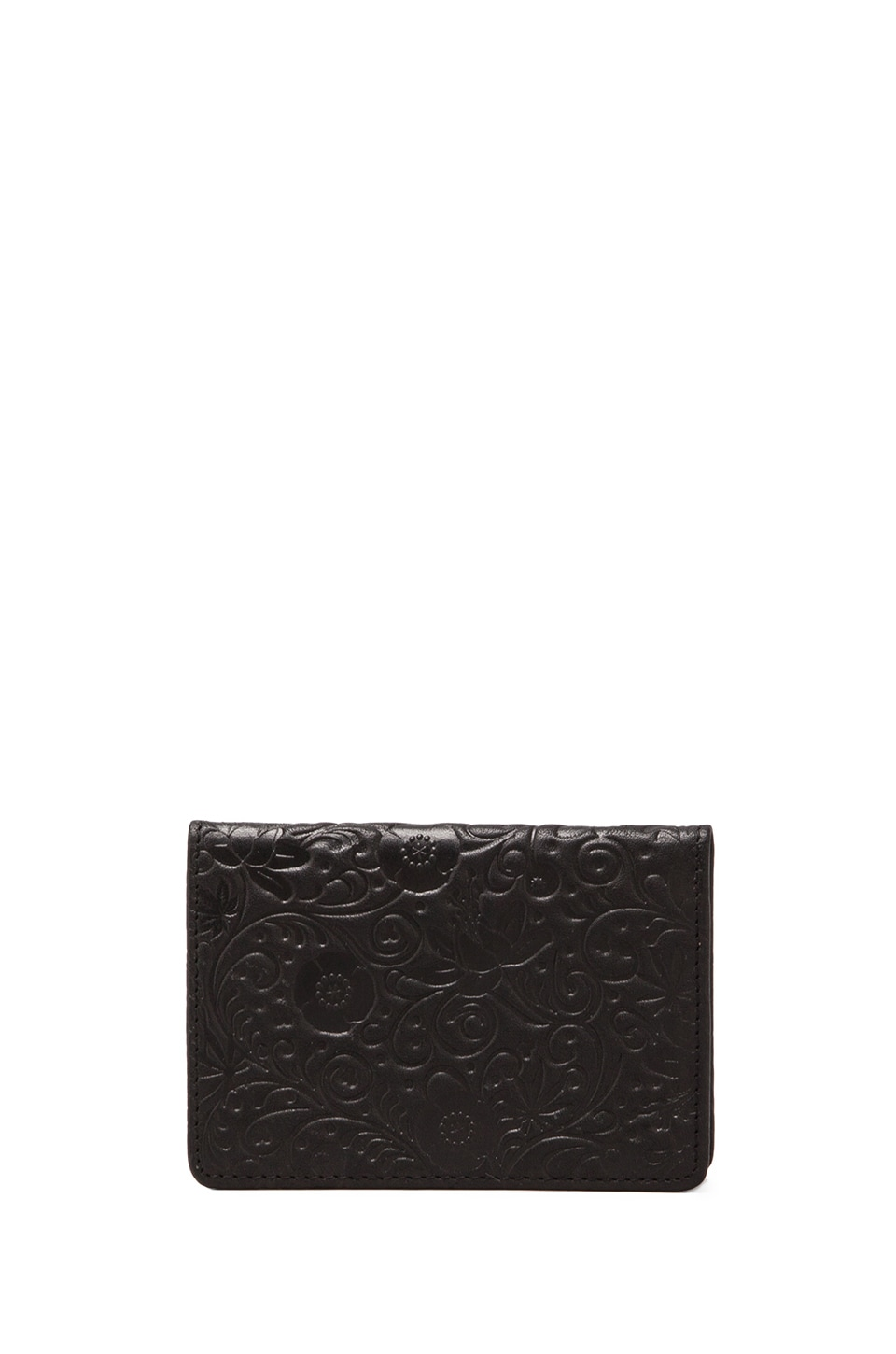 SSUR Khokhloma Card Holder in Matte Black