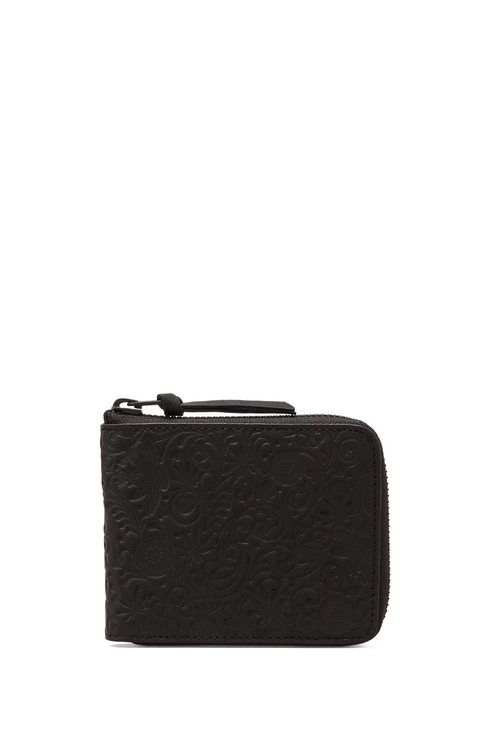 SSUR Khokhloma Zip Wallet in Matte Black