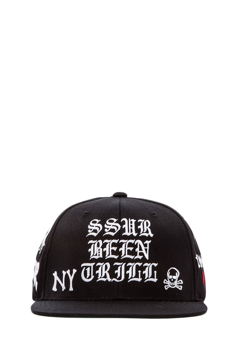 SSUR Been Trill All over Snapback in Black & White