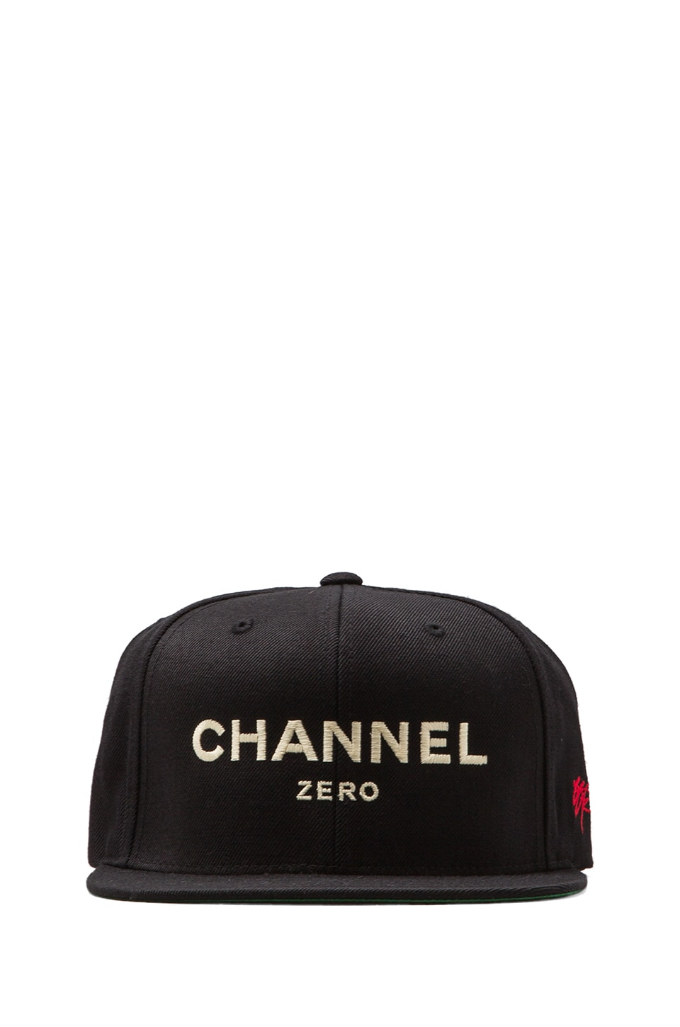 SSUR Channel Zero Snapback in Black/Cream
