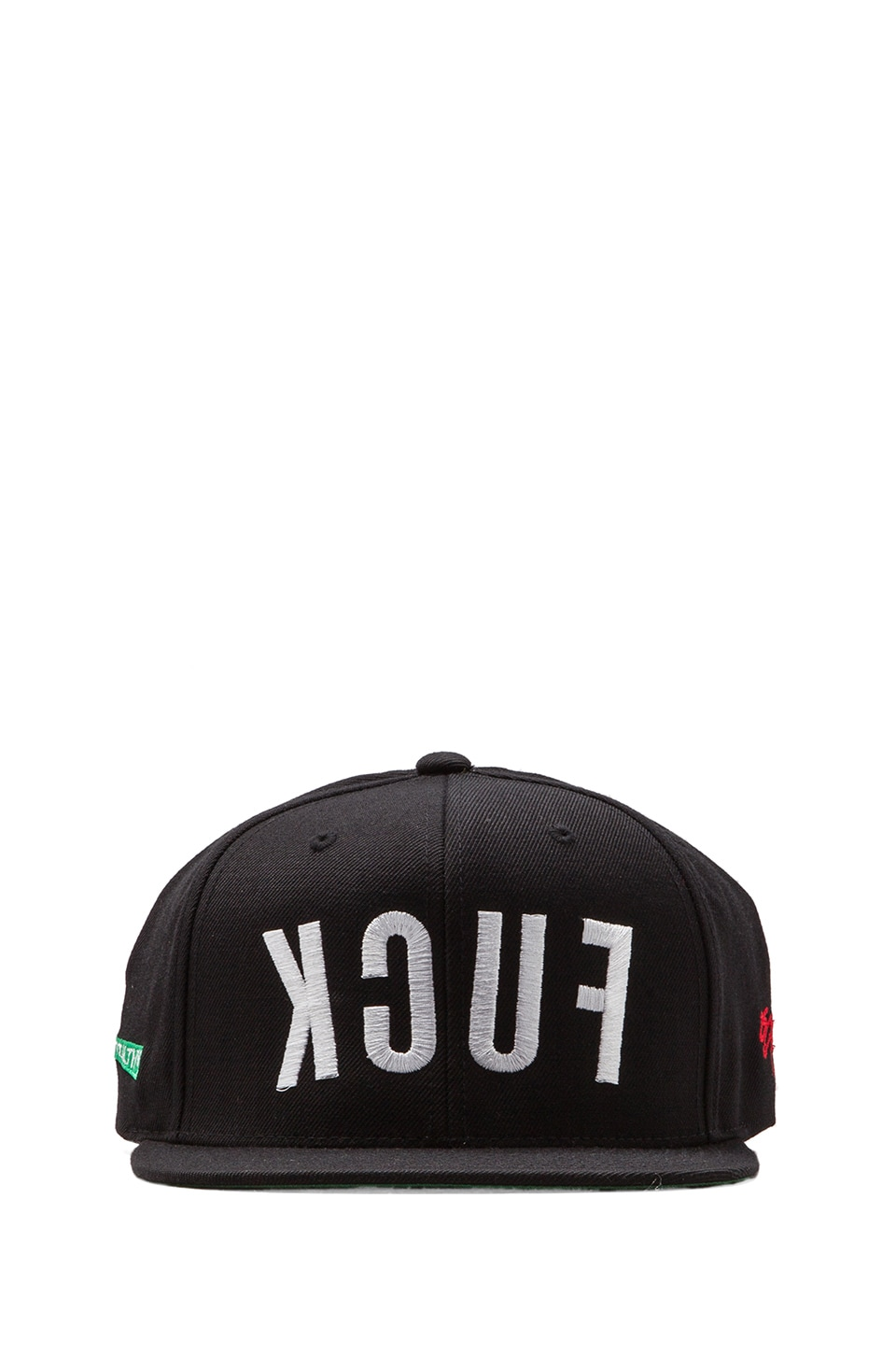 SSUR Mighty Fuck Snapback in Black/White