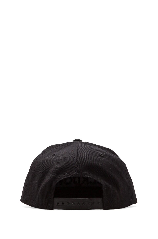 SSUR Comme des Fuckdown Snapback in Black/Black