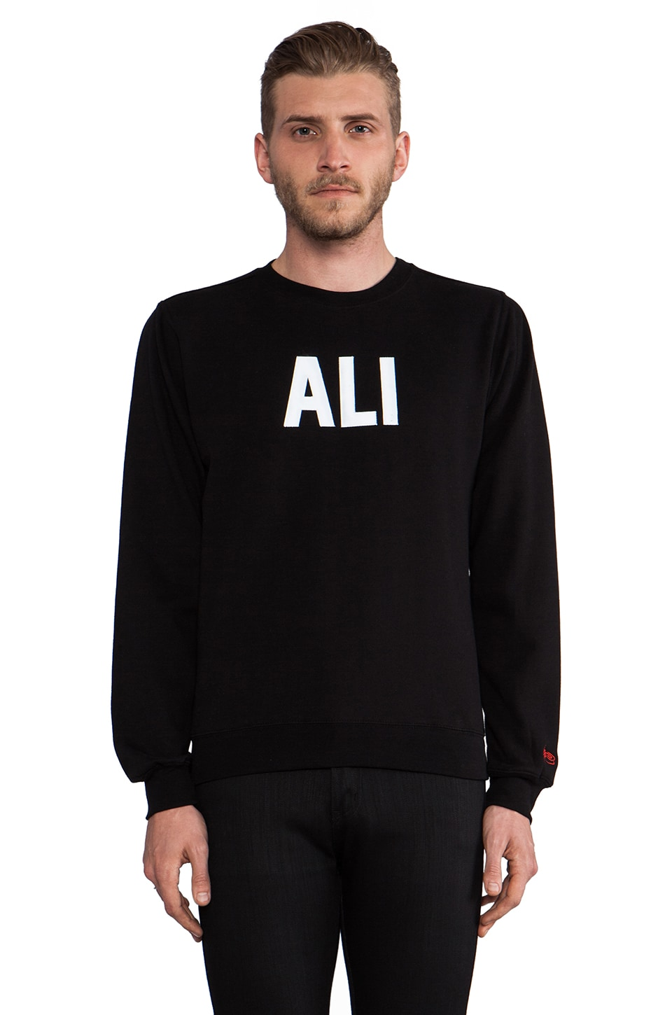 SSUR Ali Crew Sweatshirt in Black